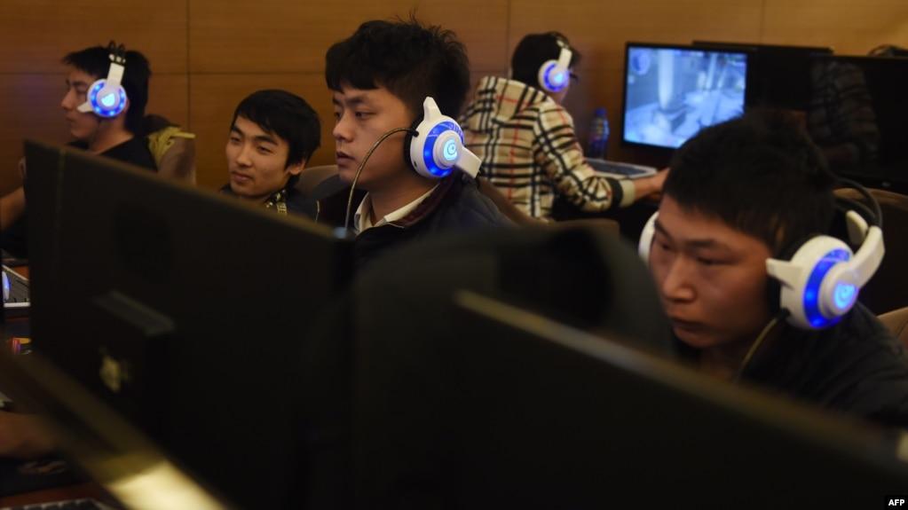 Hình ảnh một quán cafe Internet ở Bắc Kinh.