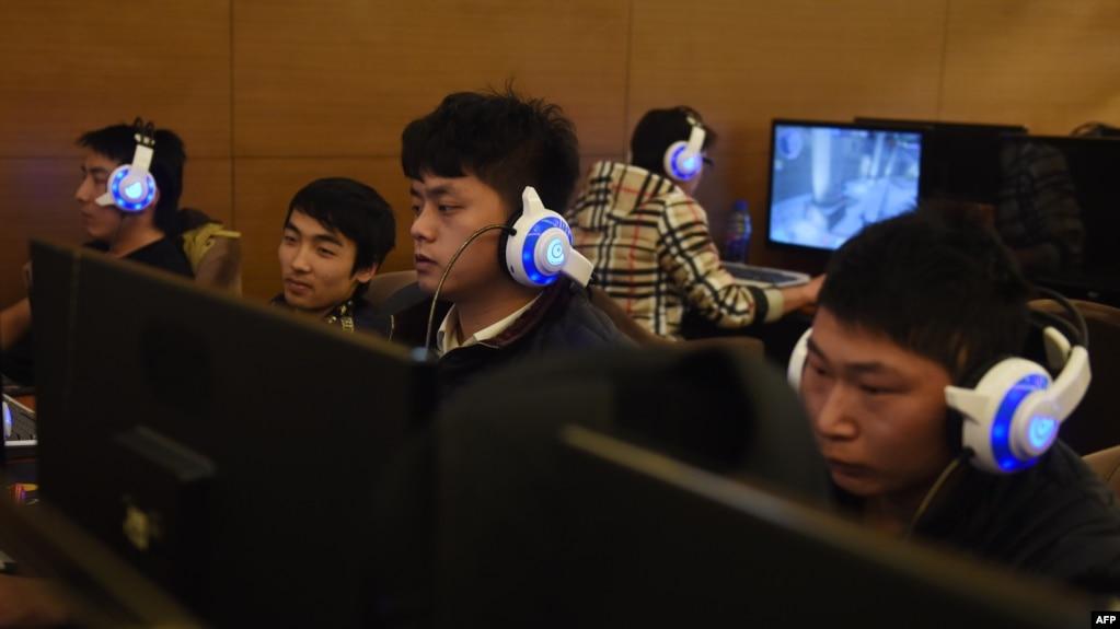 中國北京的一家網吧(2015年12月16日)