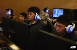 중국 베이징의 인터넷 카페.