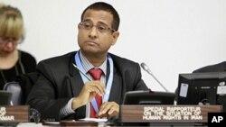 Ahmed Shaheed, penyidik khusus HAM PBB untuk Iran (foto: dok).