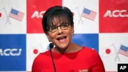 Menteri Perdagangan Amerika Penny Pritzker di Toyko, Jepang (21/10).