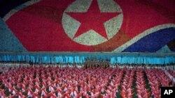 북한의 아리랑 공연 장면 (자료사진)