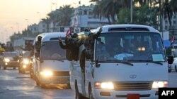 Les manifestants irakiens pro-Iran aux abords de l'ambassade des Etats-Unis à Bagdad