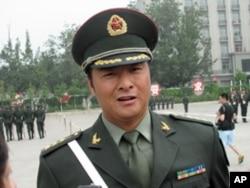 仪仗队张洪杰上尉
