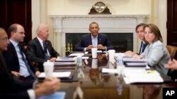 Президент Обама с членами СНБ
