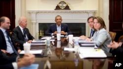 Президент Обама с членами Совета Национальной безопасности США