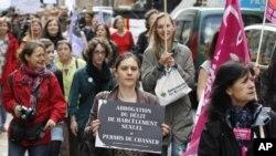 სქესობრივი ძალადობის წინააღმდეგ მიმართული აქცია პარიზში