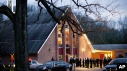 Mourners gather for the wake for Sandy Hook Elementary School shooting victim Charlotte Helen Bacon, 6, in Newtown, Connecticut