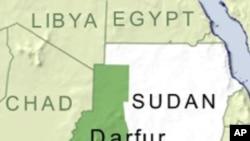 Map of Darfur, Sudan