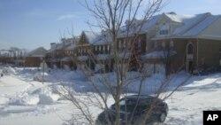 30جنوری کو واشنگٹن میں ہونے والی شدید برف باری کامنظر