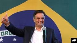 Neves tiene el 46 por ciento de los votos contra el 44 por ciento de Rousseff, según las encuestas realizadas por Datafolha e Ibope.