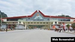 Cửa khẩu biên giới Hữu Nghị. Photo CafeF