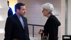 Iran US deputy FMs Araghchi Sherman Vienna (File)