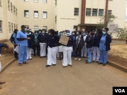 Nurses staging protests over low pay in Zimbabwe. (Bathabile Masuku)