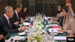Pakistan Russia Foreign Ministesr Meeting & Press Conference