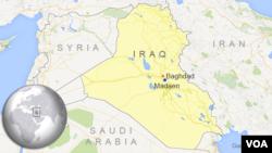 Bản đồ thị trấn Madaen, cách Baghdad khoảng 45 kilomét về hướng nam.