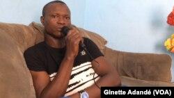 Mohamed Babio, migrant rapatrié de la Libye, à Cotonou, Bénin, 10 décembre 2017. (VOA/Ginette Adandé)