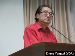 台湾执政党国民党立委李庆华(美国之音张永泰拍摄)