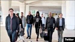 نیکولس کی اسلام آباد ائیرپورٹ پر آمد کا منظر