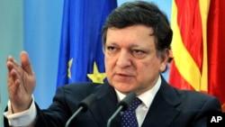 歐盟委員會主席巴羅佐。(資料圖片)