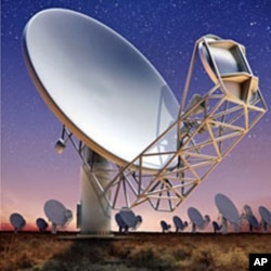 An artist's impression of South Africa's Karoo Array Telescope (MeerKAT) which will be amongst the largest and most powerful telescopes in the world, April 3, 2012