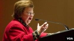 Mikulski, de 74 años, fue electa senadora por primera vez en 1986.