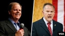 Кандидаты в Сенат США: Даг Джонс и Рой Мур