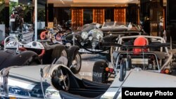 A collection of luxury cars is included for the buyer of America's most expensive home, which is for sale in the Bel Air neighborhood of Los Angeles, California, for $250 million. (Bruce Makowsky / BAM Luxury Development)
