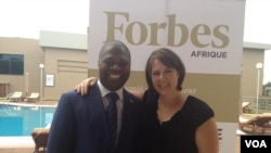 Lucien Ebata (l) is founder and proprietor of the newly launched magazine, Forbes Afrique and Ann Norman, (r) managing director, Norman Communications.