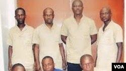Alguns dos presos da Lunda