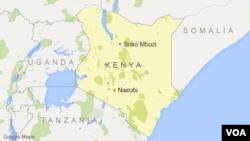 ແຜນທີຈຸດເກີດເຫດໃນເມືອງ Soko Mbuzi ປະເທດ Kenya