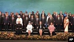 Os chefes de Estado e de governo que participam na Cimeira de Perth
