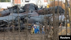 Oil Train Explodes in Canada