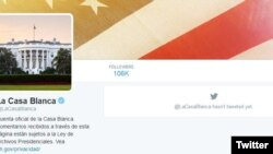 También se cerró la cuenta @LaCasaBlanca que tenía en Twitter.