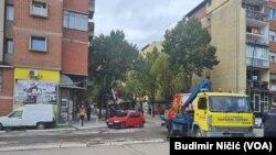 Blokada ulice u Kosovskoj Mitrovici