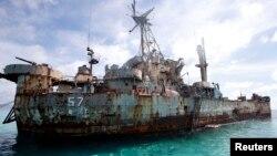 Trung Quốc tố cáo Philippines lừa dối công luận và cộng đồng quốc tế về ý định thật sự của việc cho chiếc tàu chiến BRP Sierra Madre (hình trên) đóng ở bãi cạn Second Thomas từ năm 1999 tới nay.