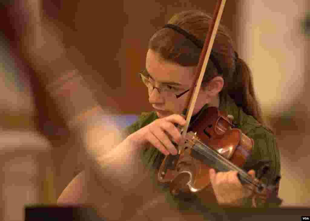 Репетиция Национального молодежного оркестра США