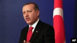Turkish Prime Minister Recep Erdogan (file photo)