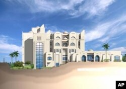 Main elevation of the future orphanage designed by Maher Andraws