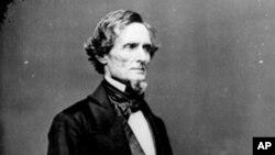 美国前联邦参议员杰斐逊.戴维斯担任美国南部邦联总统