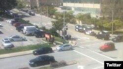 Foto del exterior del edificio sede de YouTube en San Bruno California, donde una mujer perpetró un tiroteo que dejó varios heridos. (Twitter Moments Erin@erinjeancs)