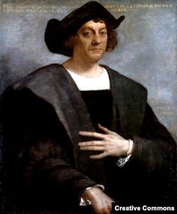 크리스토퍼 콜럼버스로 알려진 16세기 스페인 인물화.