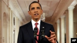 25일 부채 한도에 대해서 연설하는 바락 오바마 대통령