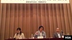 言论NPO在东京发表日中联合舆论调查(美国之音小玉拍摄)