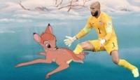 Tim Howard saves.