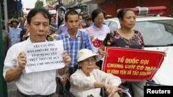 چین میں بدعنوانی کے خلاف ہونے والے ایک مظاہرے کا منظر