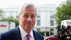 FILE - JPMorgan Chase Chairman, President and Chief Executive Officer Jamie Dimon, Department of Justice, Washington, Sept. 2013.