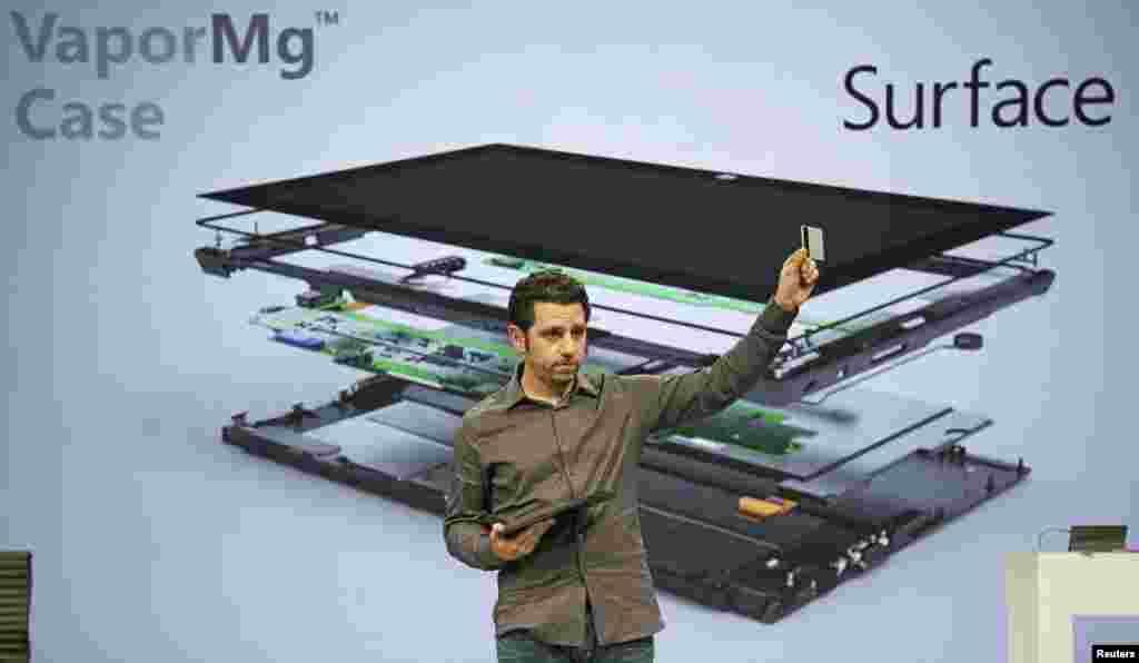 """La tableta está hecha de diferentes capas, entre ellas, una carcasa de magnesio llamada """"Vapor Mg"""""""