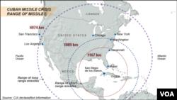 Các tên lửa của Nga đặt ở Cuba bao trùm tới hai phần ba nước Mỹ
