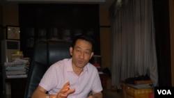 芷江飞虎队纪念馆馆长吴建宏(美国之音林森拍摄)